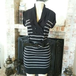 Sweater Project Casual Striped Sweater Dress
